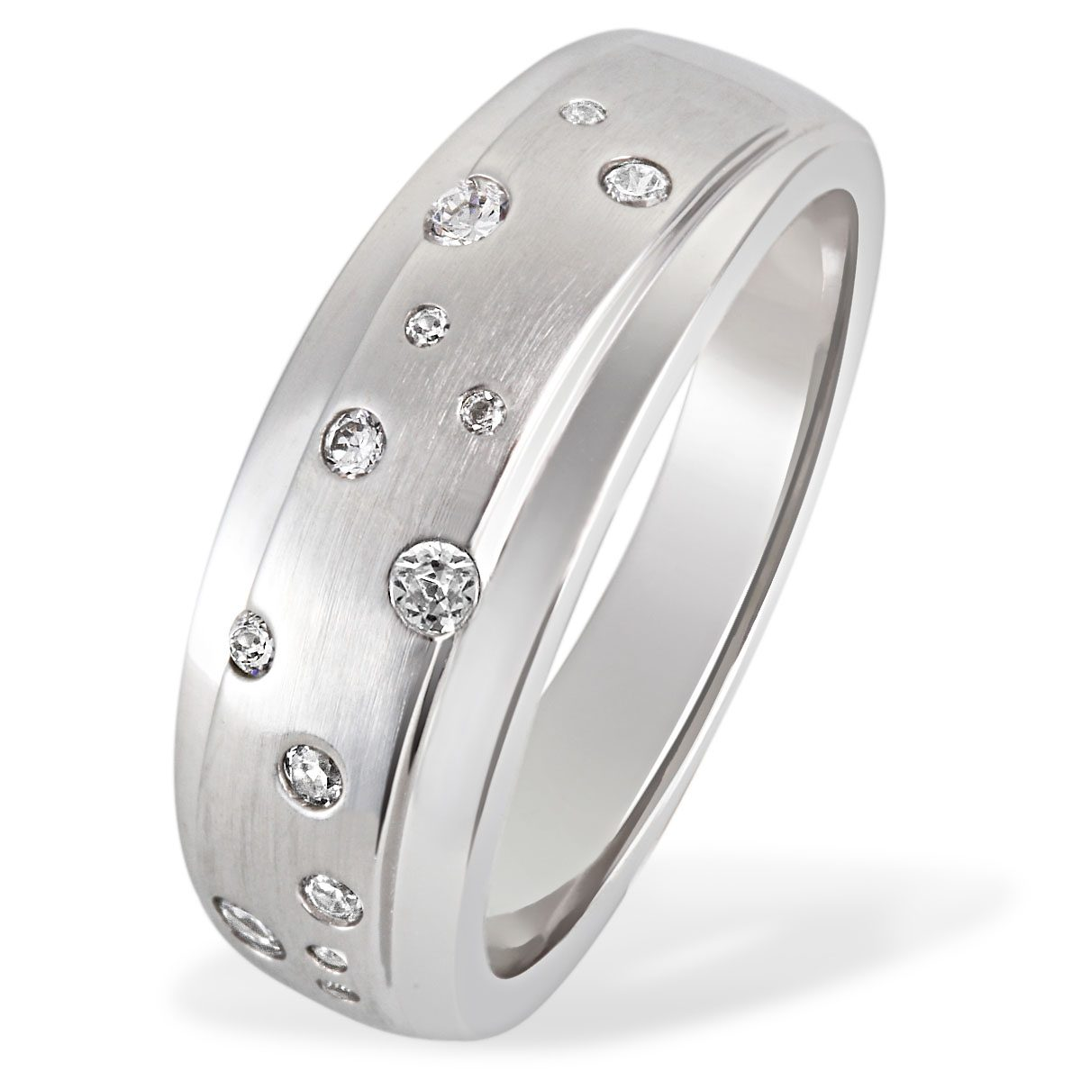Averdin Damenring 925/- Silber 13 Zirkonia Sternenhimmel