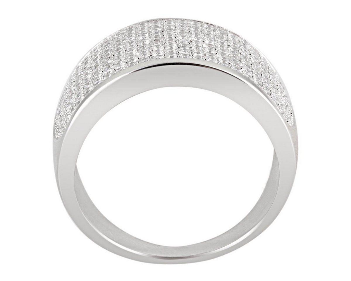 Averdin Damenring 925/- Silber 218 klare Zirkonia