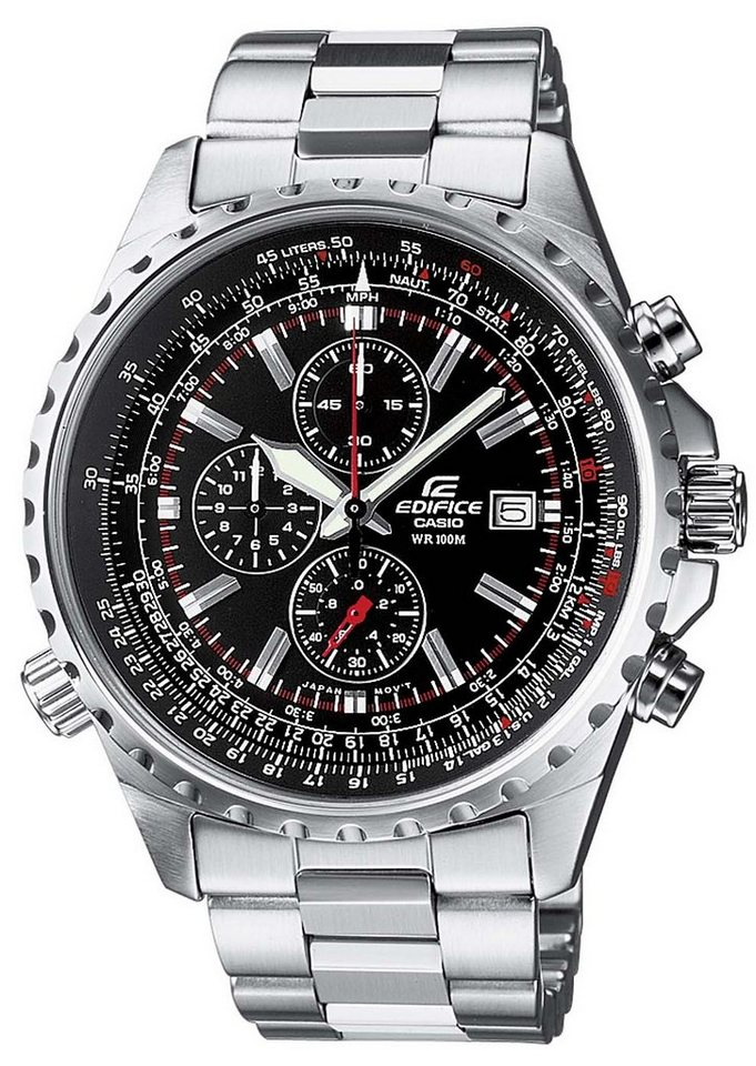 Casio Edifice Chronograph »EF-527D-1AVEF« NEO-Display in silberfarben