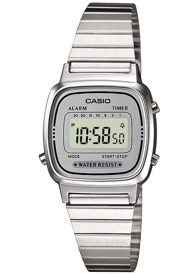 Casio Collection Chronograph »LA670WEA-7EF« in silberfarben