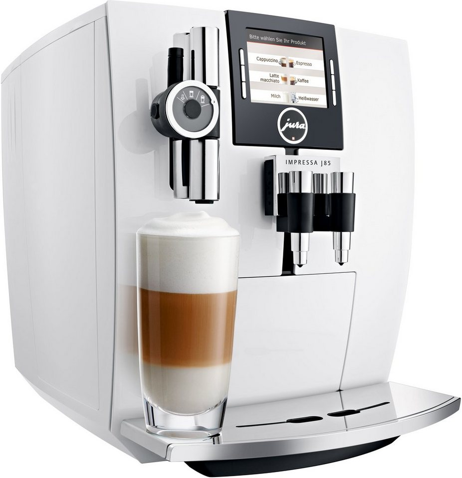Jura Espresso-/Kaffee-Vollautomat 15049 IMPRESSA J85, Piano White in Piano White