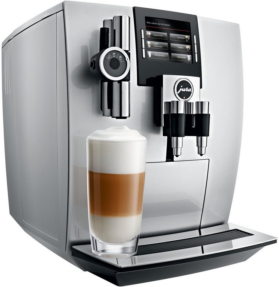 Jura Espresso-/Kaffee-Vollautomat 15038 J90, Brillantsilber in Brillantsilber