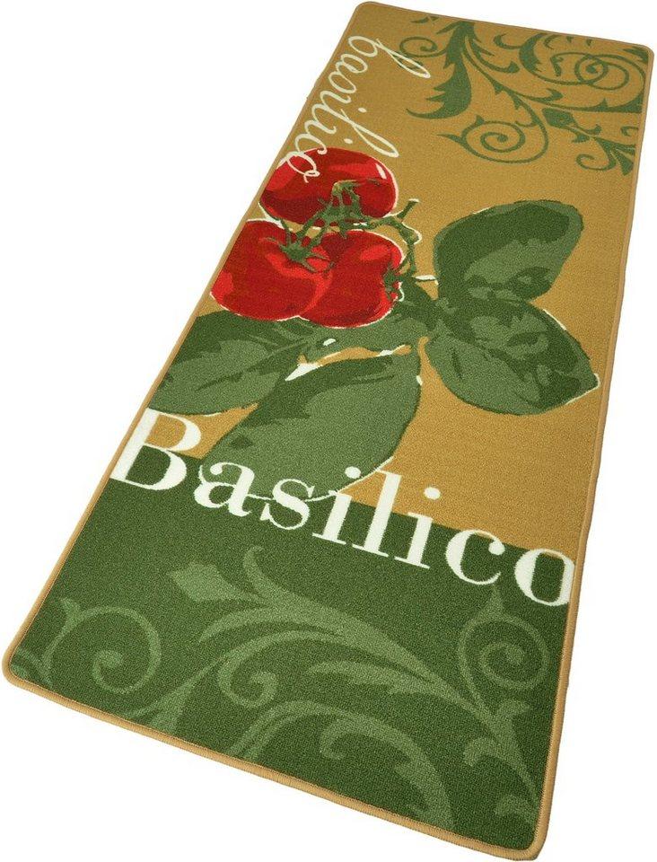 Küchenläufer, Hanse Home, »Basilico« getuftet, strapazierfähig, grafisch gemustert in Grün Beige