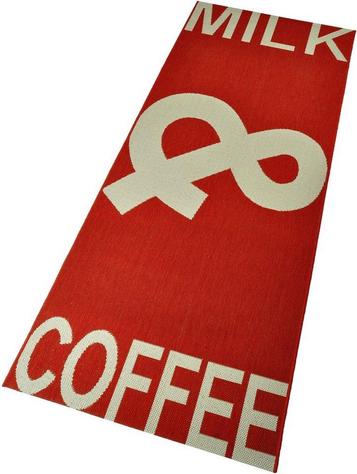 Küchenläufer »Coffee & Milk«, Hanse Home, rechteckig, Höhe 8 mm in rot-natur