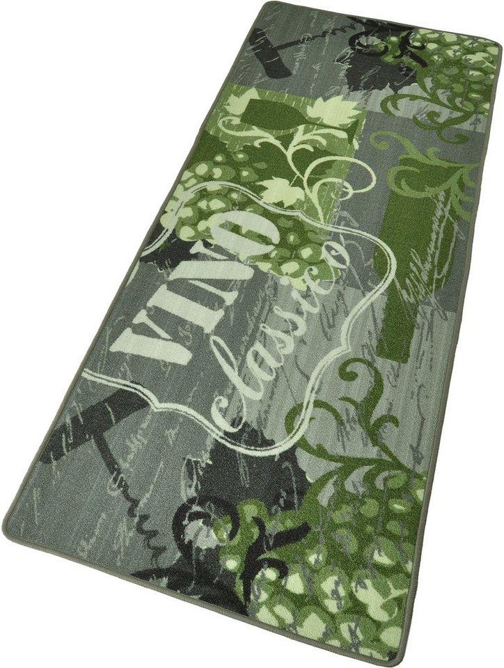 Küchenläufer »Vino Classico«, Hanse Home, rechteckig, Höhe 8 mm in grün-grau