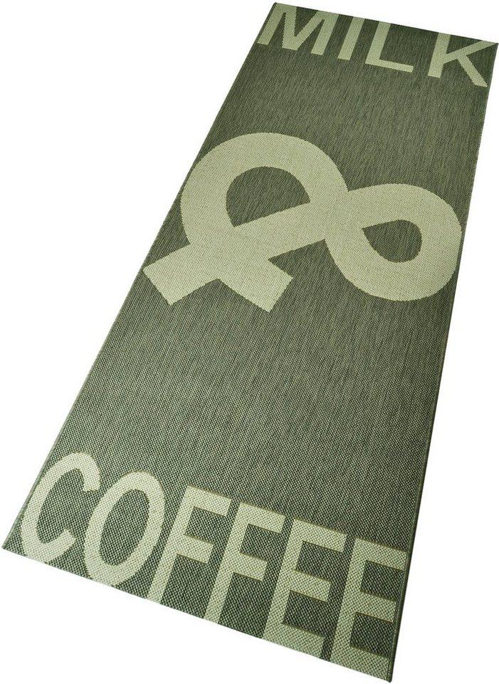 Küchenläufer, Hanse Home, »Coffee & Milk« gewebt, Flachgewebe in grau creme