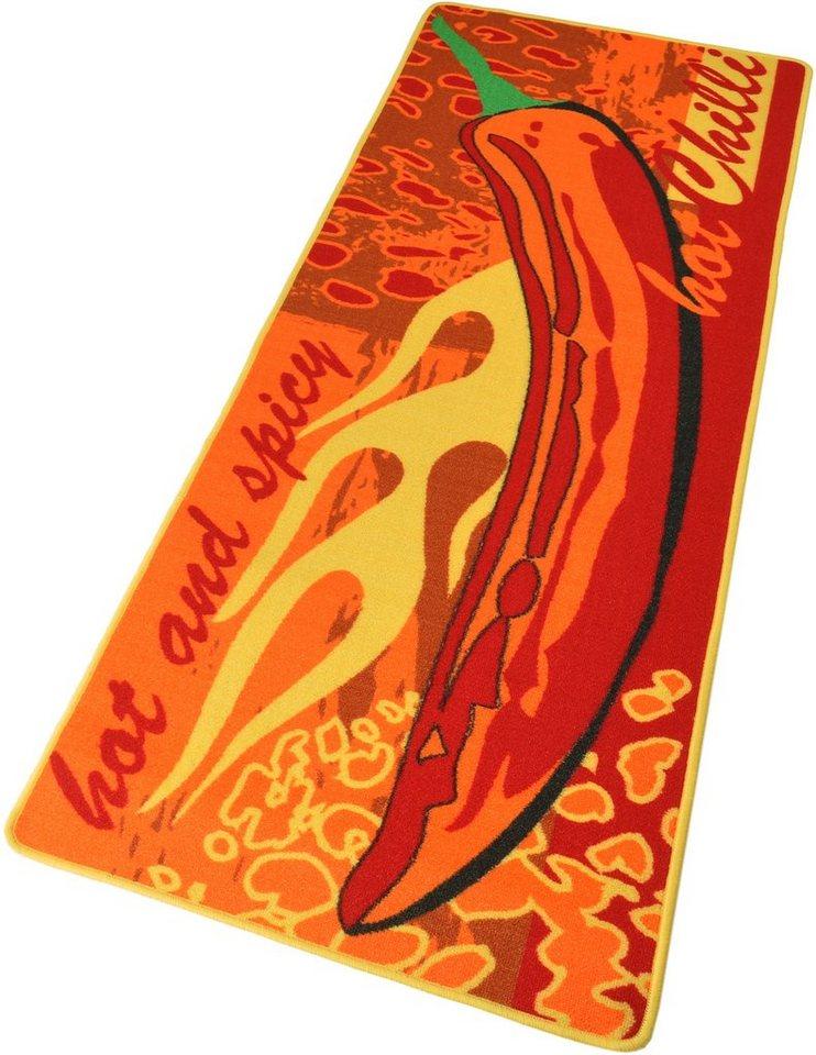 Küchenläufer »Hot Chilli«, Hanse Home, rechteckig, Höhe 8 mm in rot-orange