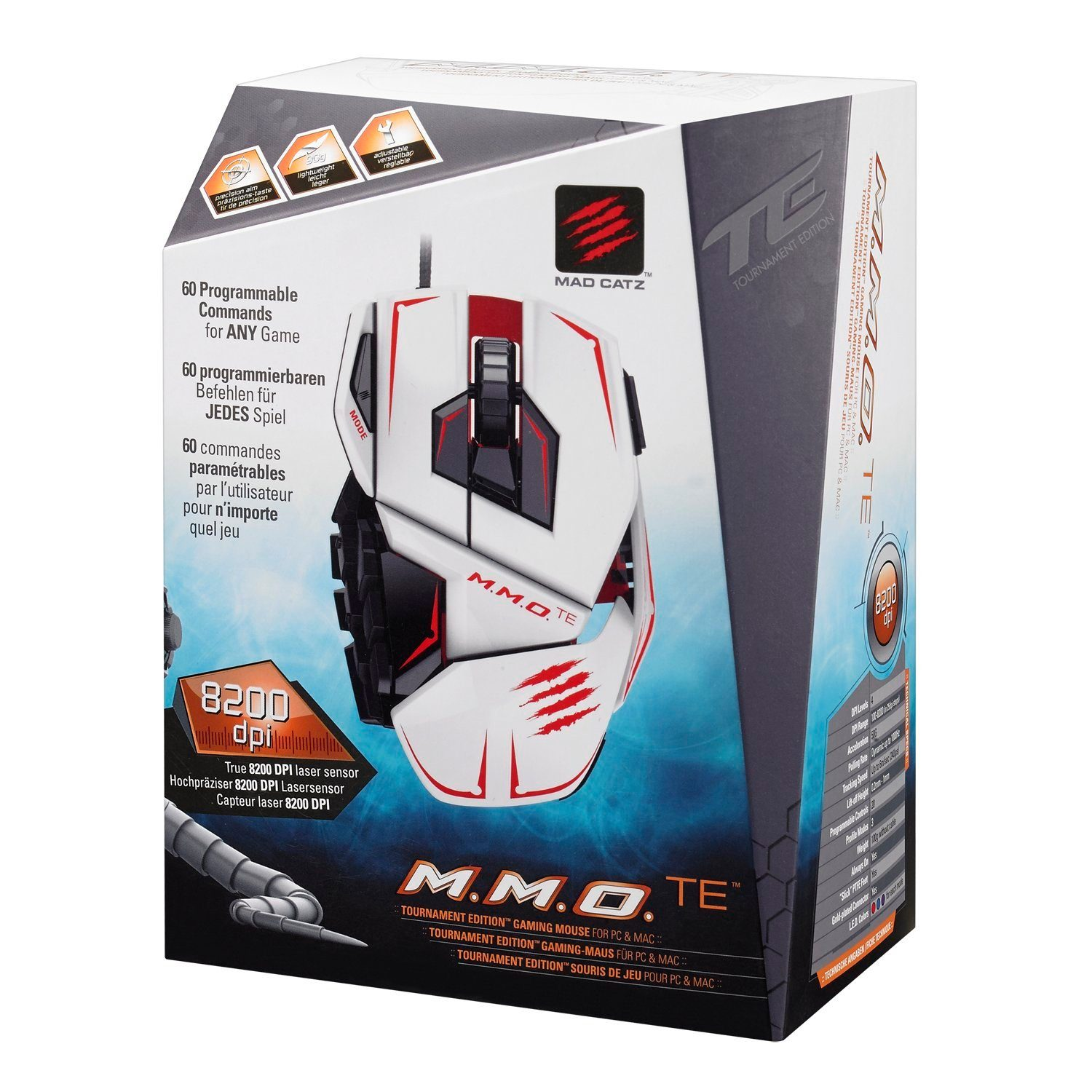 Mad Catz Mouse M.M.O. TE Weiss »(PC)«
