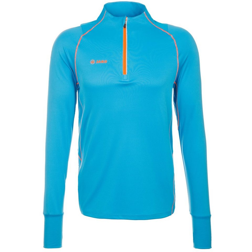 JAKO Ziptop Power Herren in hellblau/neonorange