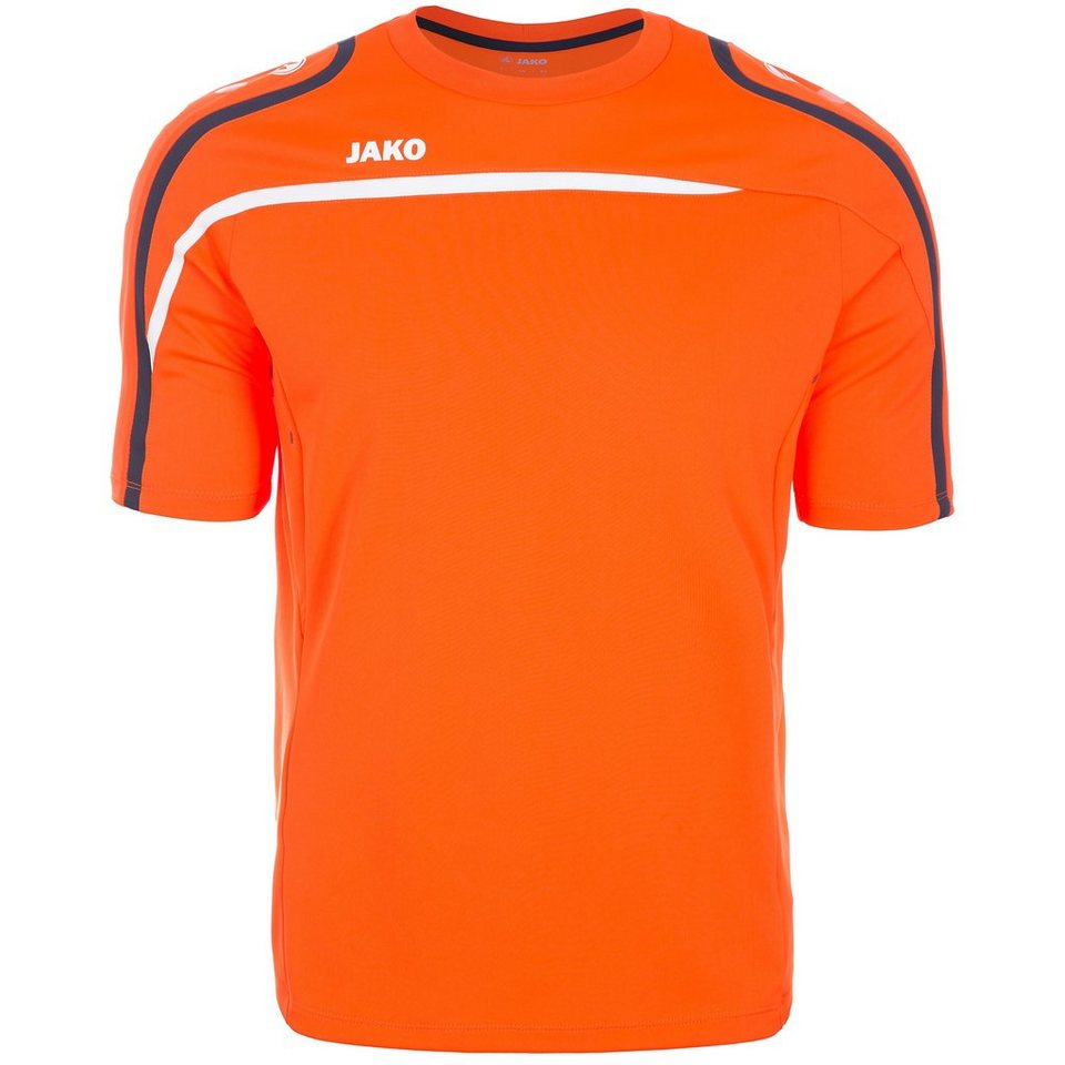 JAKO T-Shirt Performance Herren in neonorange/weiß/mari