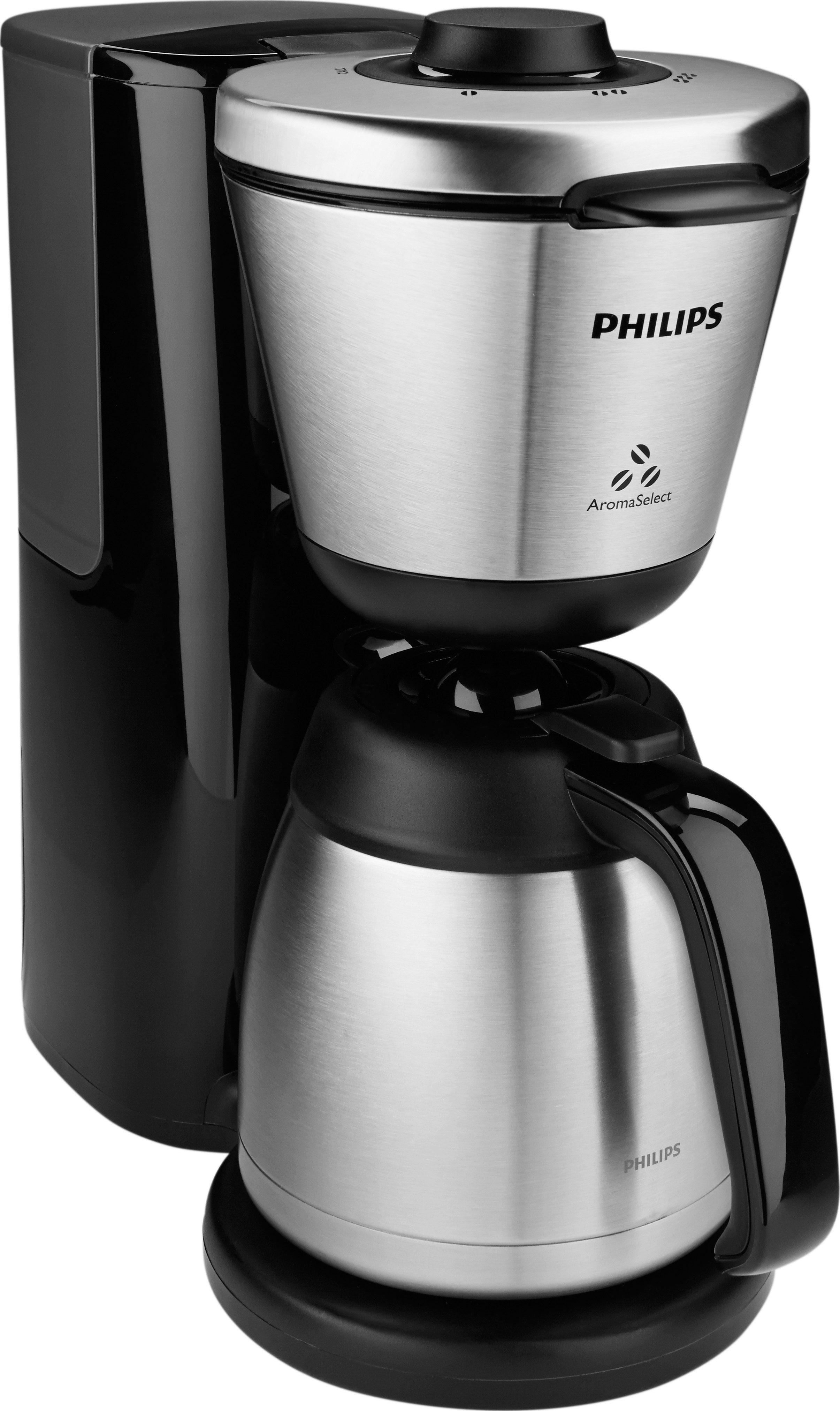 Philips Kaffeemaschine HD7697/90, Intense AromaSelect mit Thermokanne, schwarz