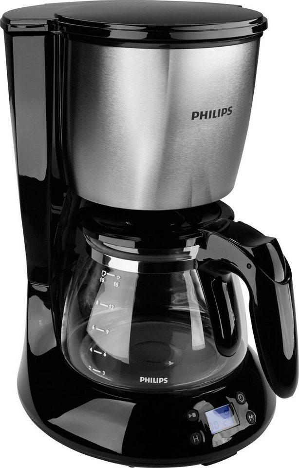 Philips Filterkaffeemaschine HD7459/20 Daily Collection mit Glaskanne, schwarz in schwarz/metall