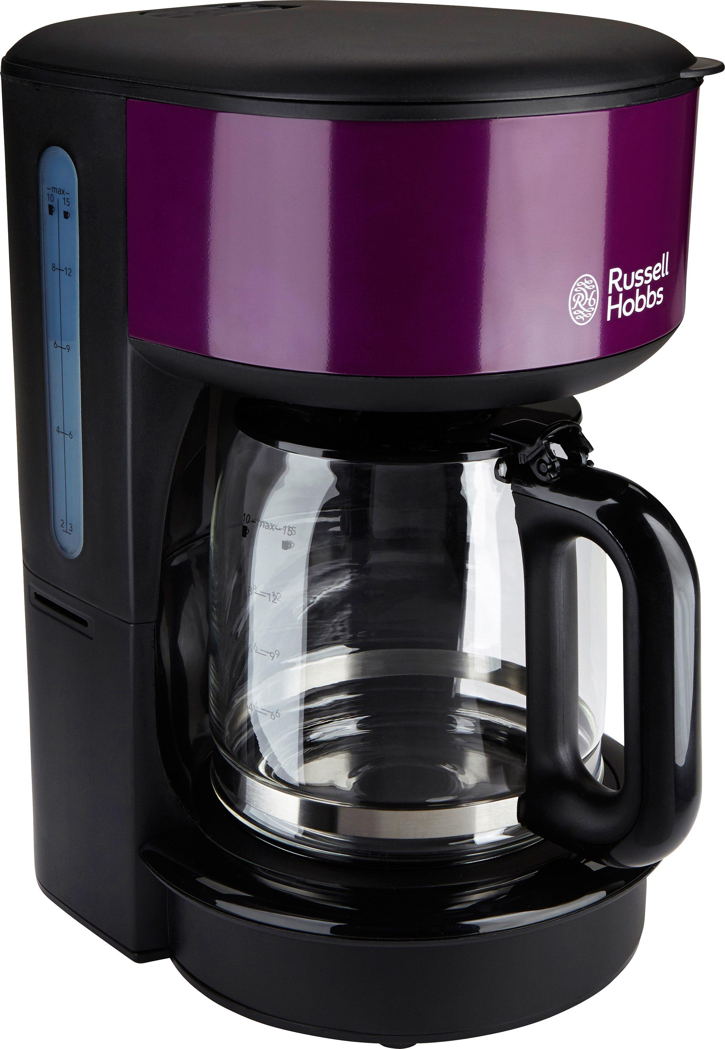 Russell Hobbs Kaffeemaschine 20133-56 Purple Passion, Brausekopf-Technologie und Schnellheizsystem