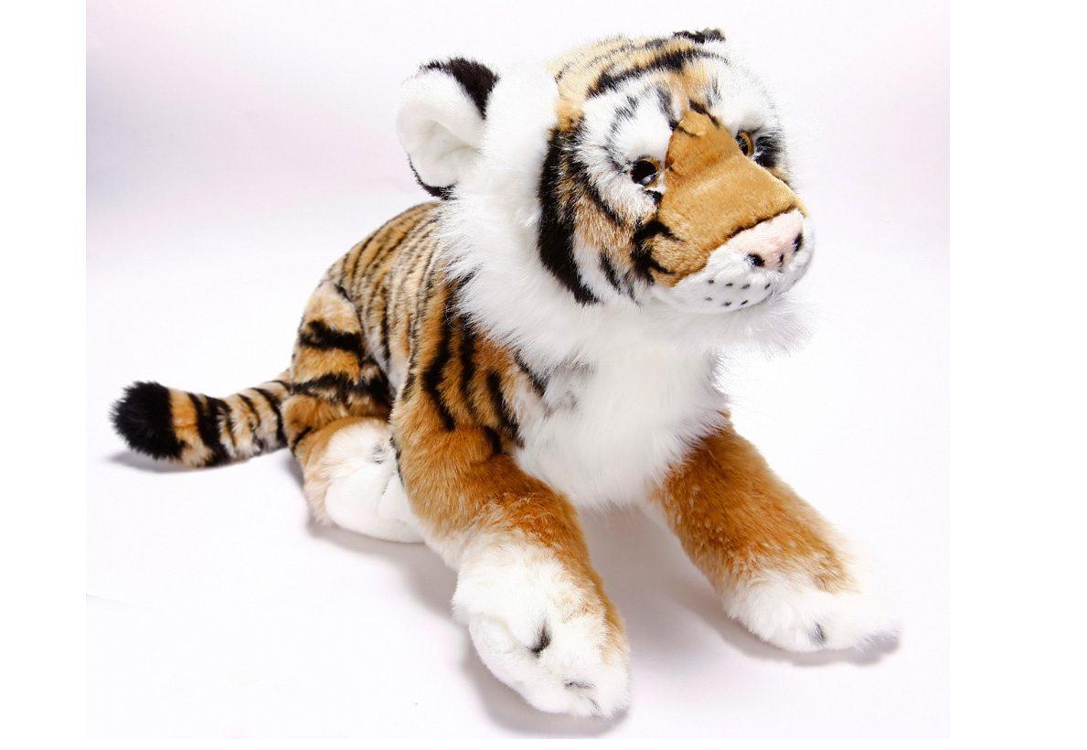 Plüschtier, »Tiger liegend aus der Serie Blickfänger«, Heinrich Bauer