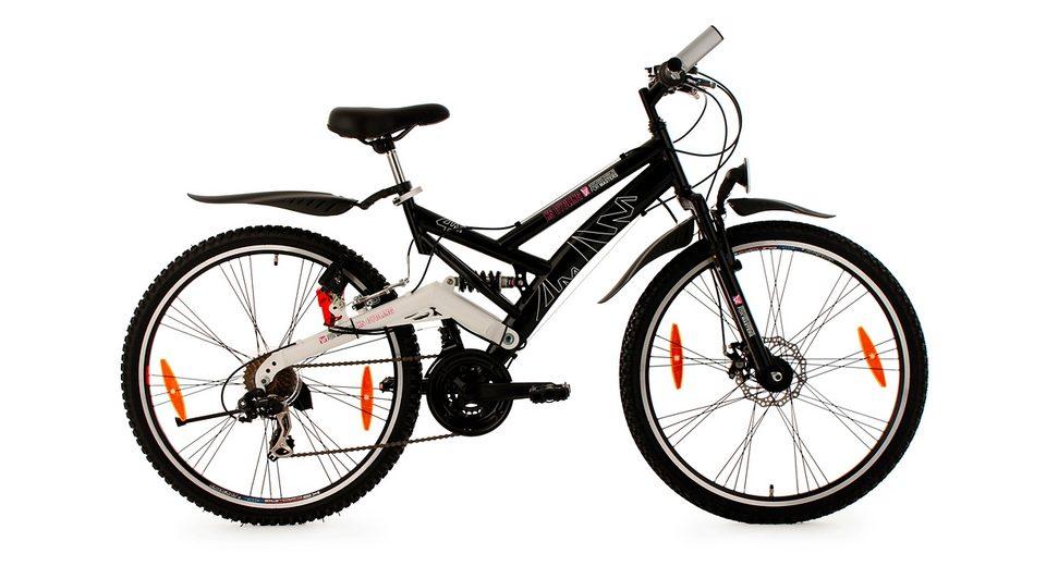 Fully-Mountainbike, 26 Zoll, schwarz, 21 Gang Kettenschaltung, »For Masters«, KS Cycling