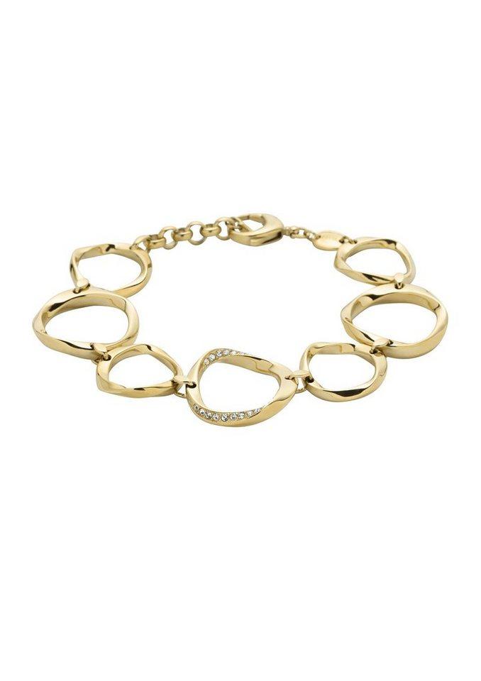Armband, »Classic Twist, JF01612710«, Fossil in goldfarben