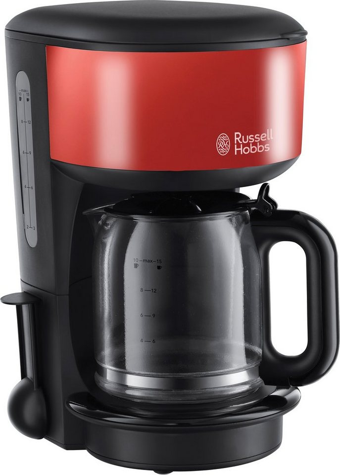 Russell Hobbs Glas-Kaffeemaschine »Colours Flame Red« 20131-56 in rot/schwarz