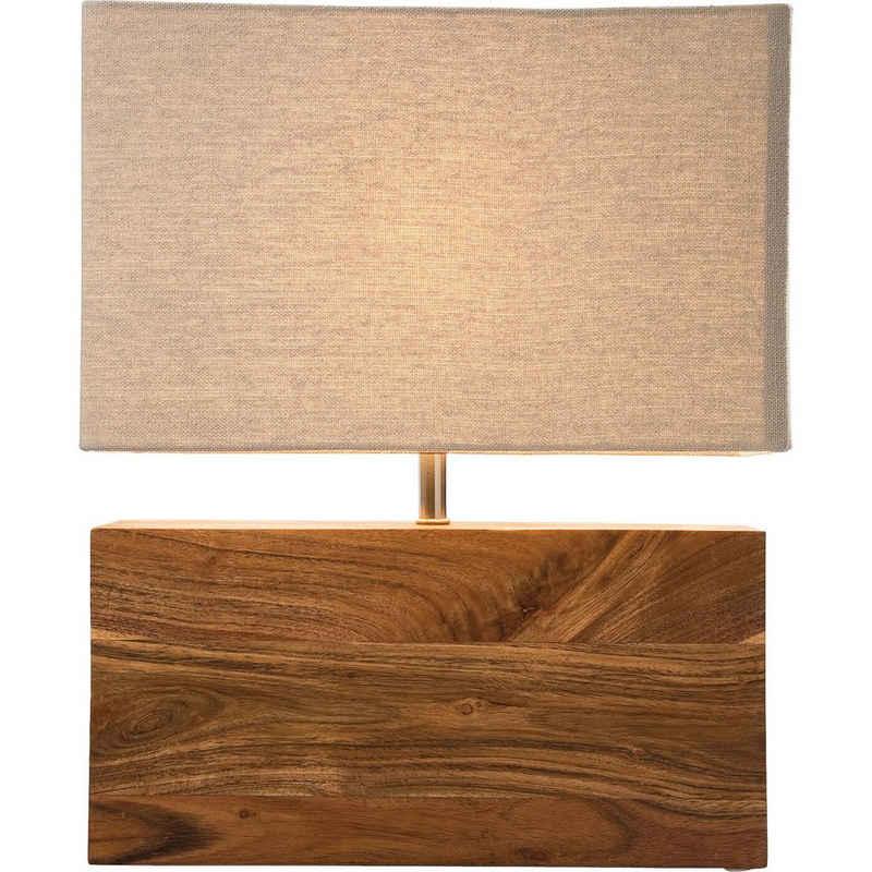 KARE Tischleuchte »Tischlampe Rectangular Wood Nature«