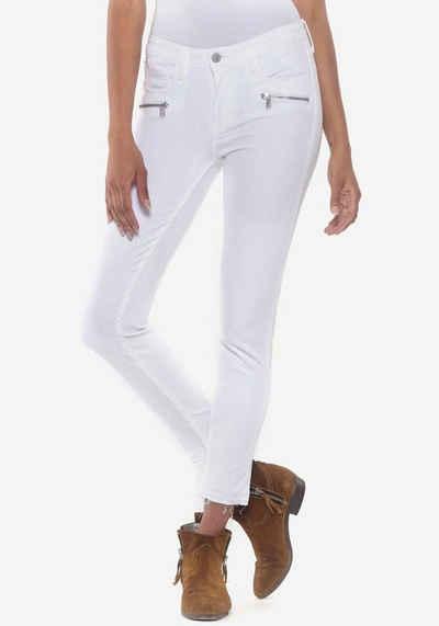 Le Temps Des Cerises Skinny-fit-Jeans »KIEV« mit Reißverschlusstaschen vorne
