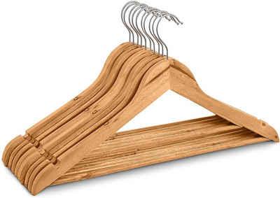 Goliez Kleiderbügel »GOLIEZ - Holz Kleiderbügel - 20 Stück Massivholz in Naturfarben - Anzugbügel, Jackenbügel mit spezial Einkerbungen für Röcke, Tops, Mäntel - 44 cm breit«