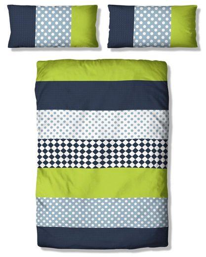 Kinderbettwäsche »Elli«, Lüttenhütt, mit verspieltem Streifen-Muster
