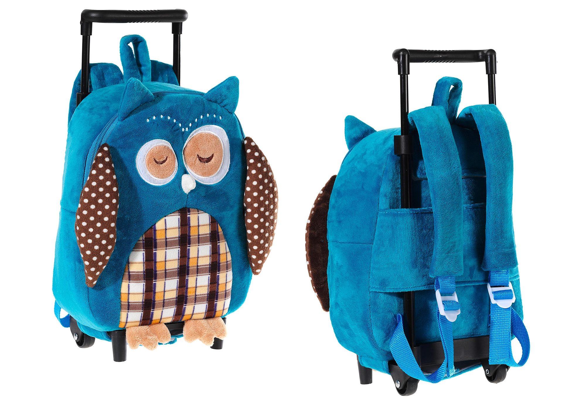 Heunec Kinder Rucksack mit Trolleyfunktion »Eule«