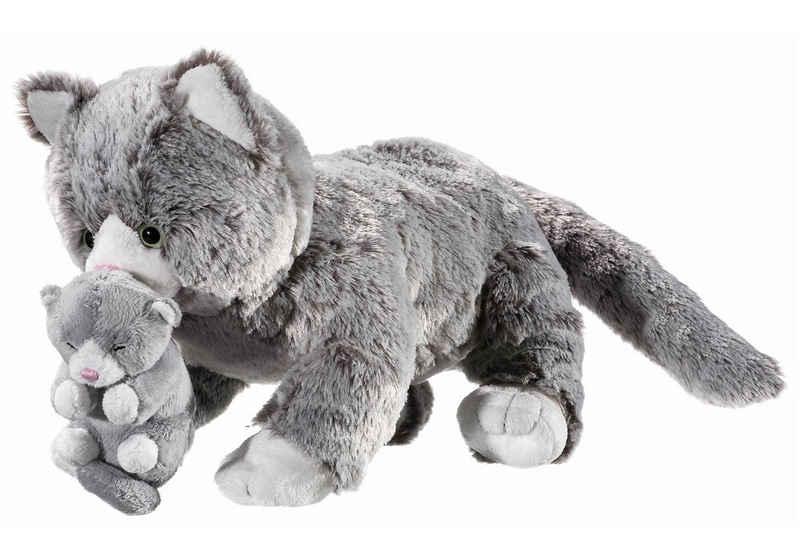 Heunec® Kuscheltier »Natureline Softissimo Katze mit Baby«