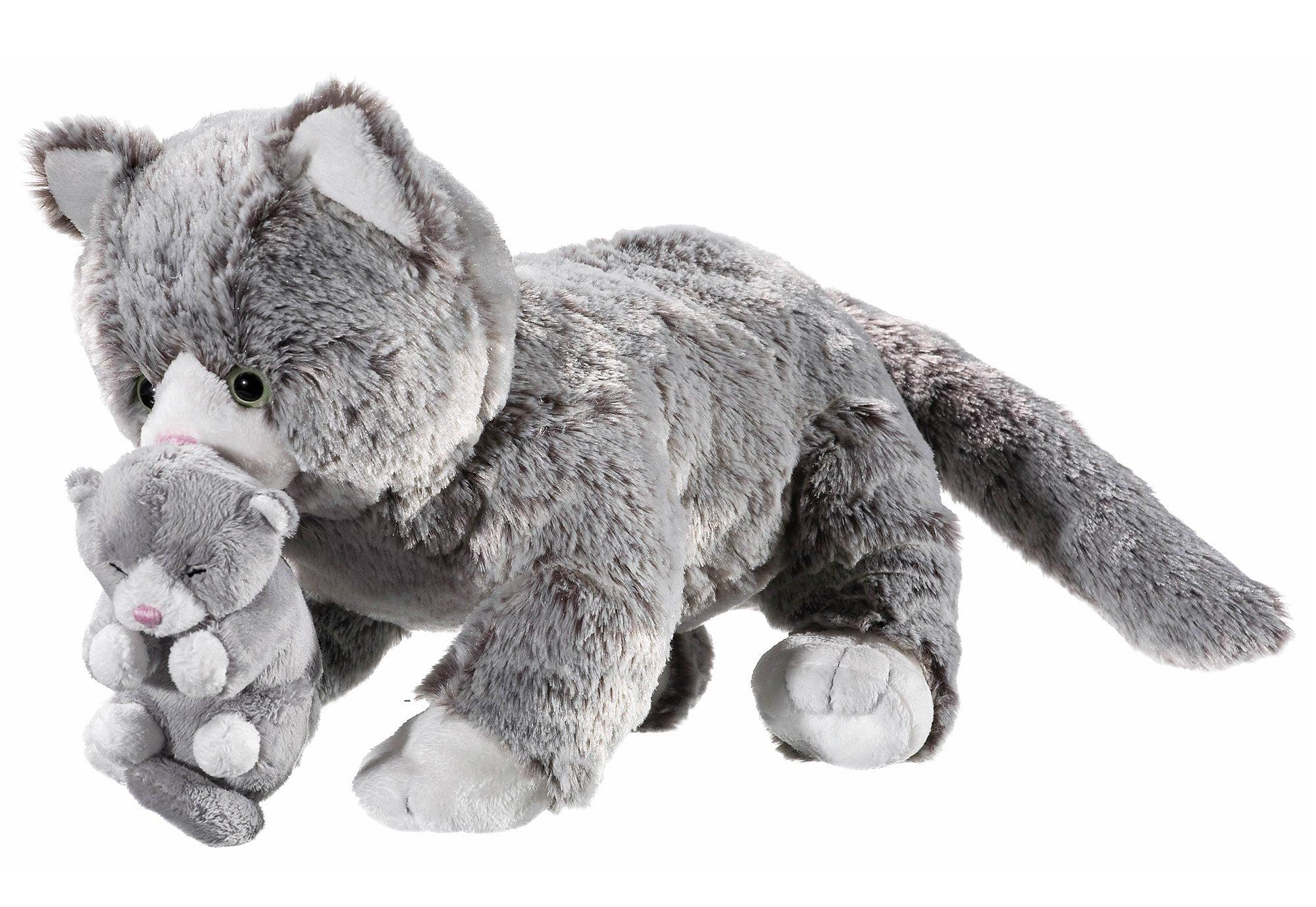 Heunec Plüschtier »Natureline Softissimo Katze mit Baby«