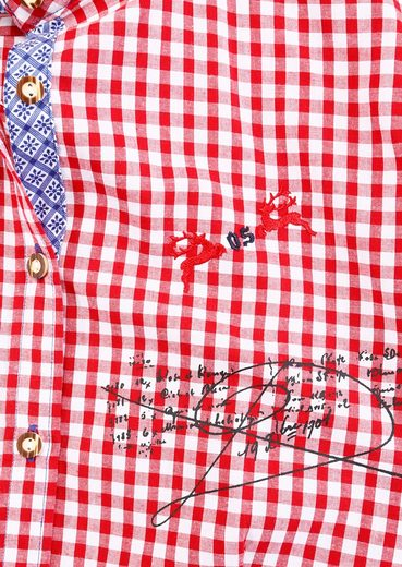 Costume Blouse, Plaid, Os-seek With Embroidery