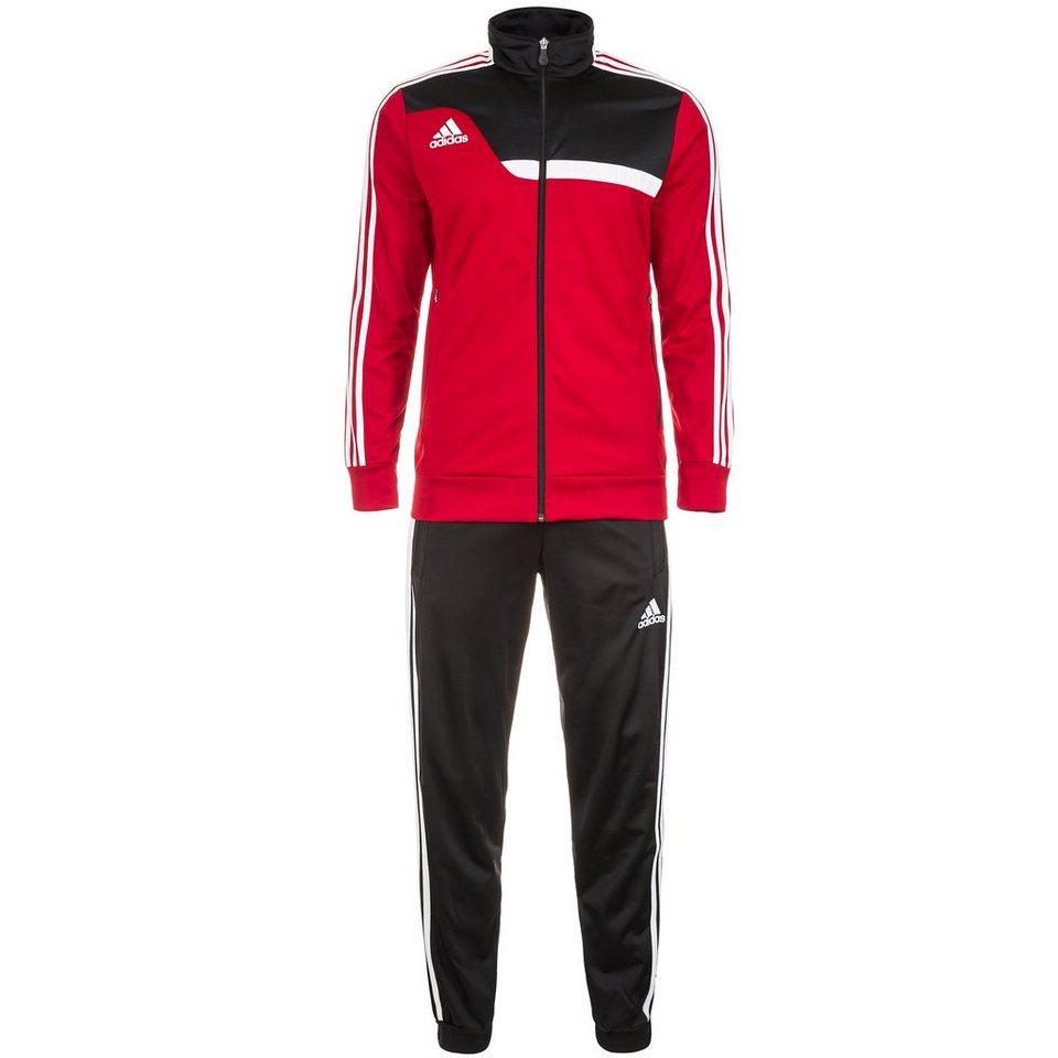 adidas Performance Set: Tiro 13 Polyesteranzug Herren (Packung, 2 tlg.) in rot / schwarz