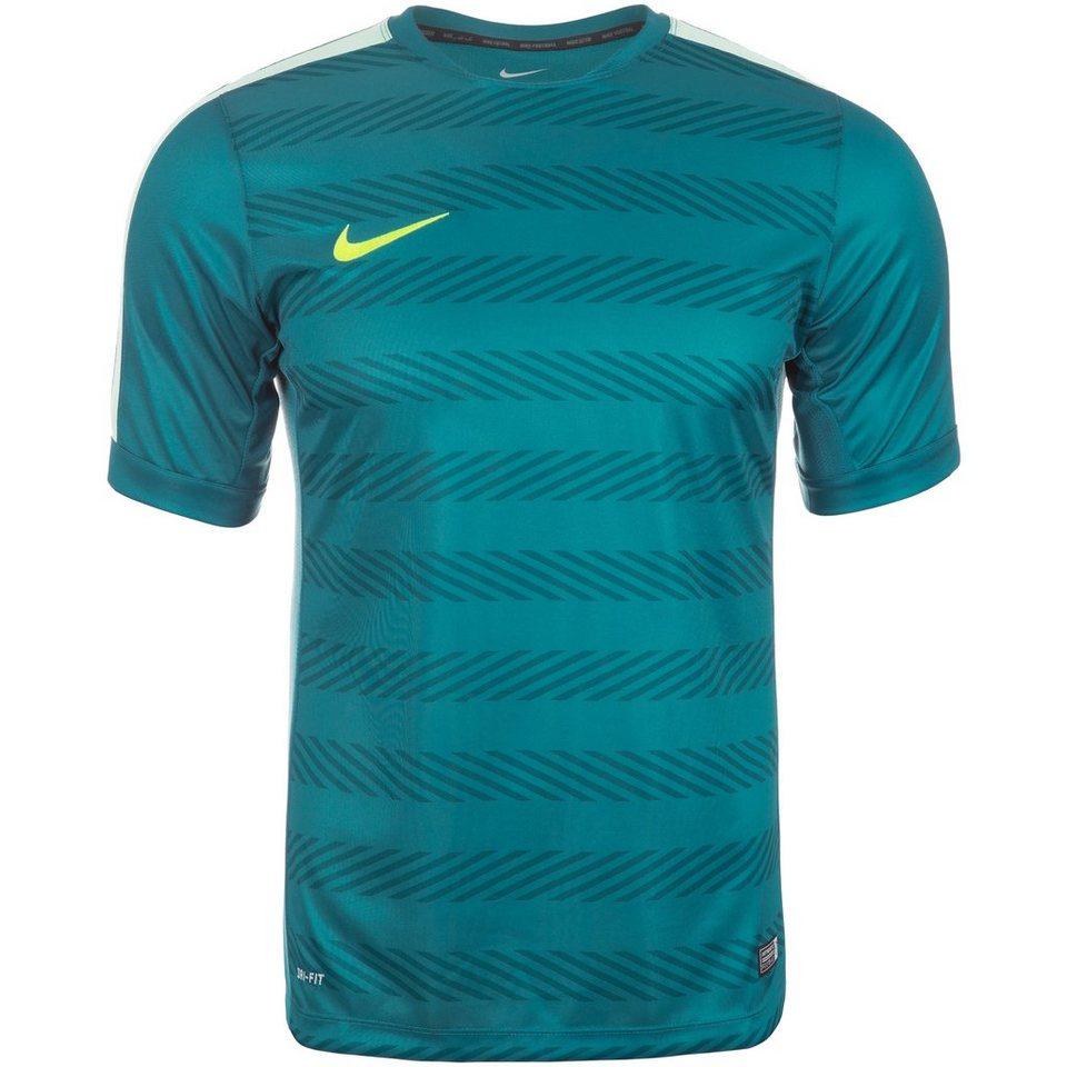 NIKE Squad Premium Fußballtrikot Herren in blau / mint