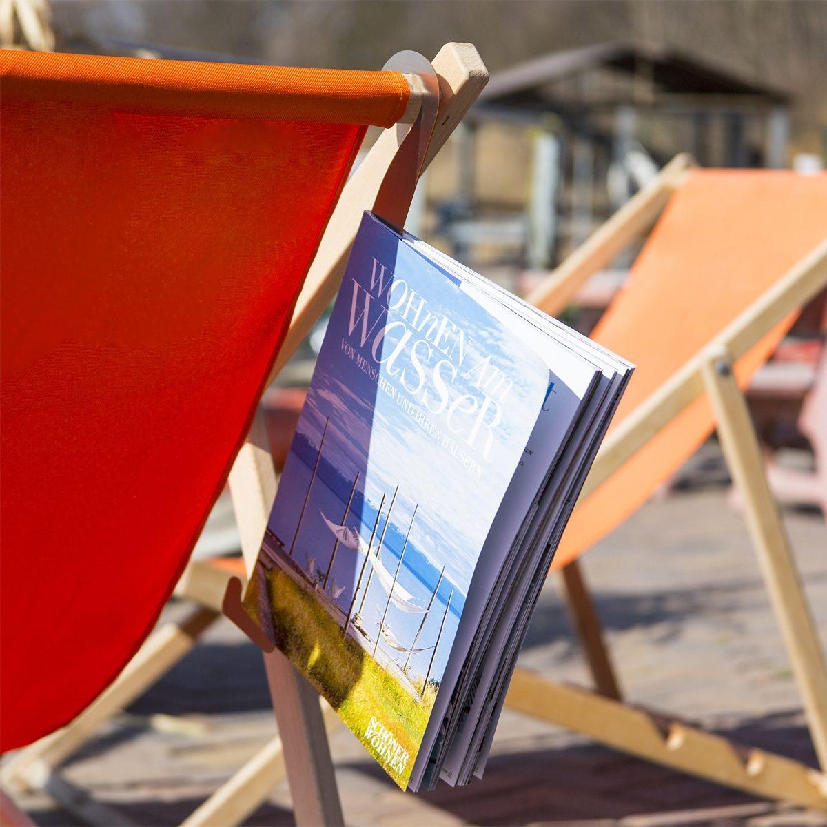 Designerstahl Stahlglanz Zeitschriftenhaken Edelstahl glänzend