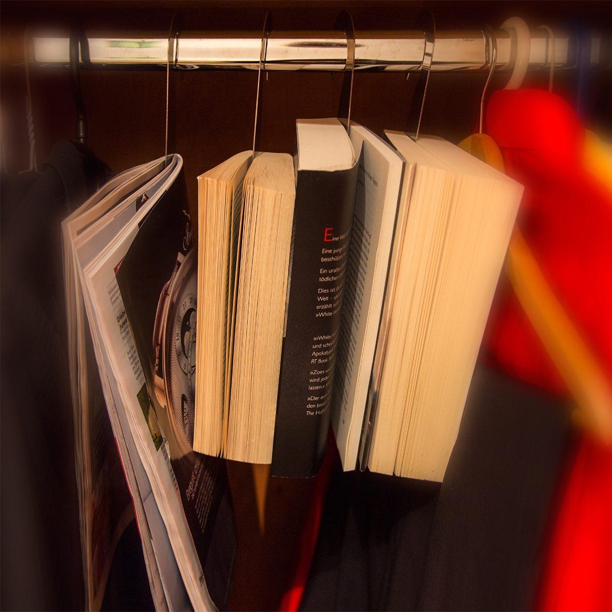 Stahlglanz Stahlglanz Bücherhaken Edelstahl glänzend