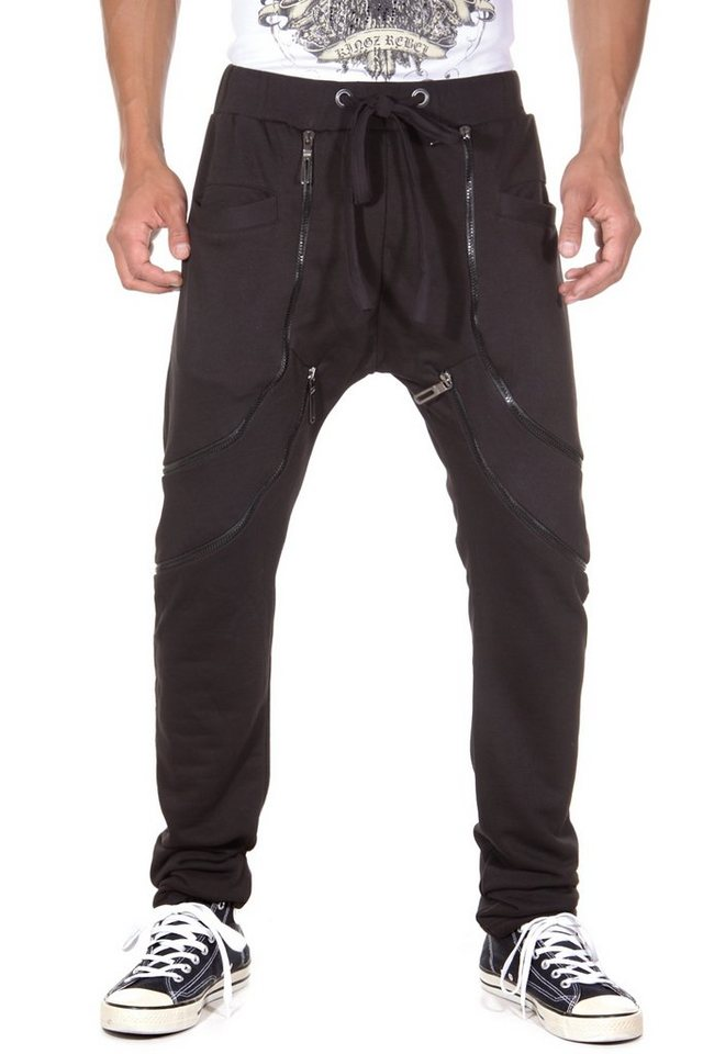 KINGZ Sweatpants regular fit in schwarz