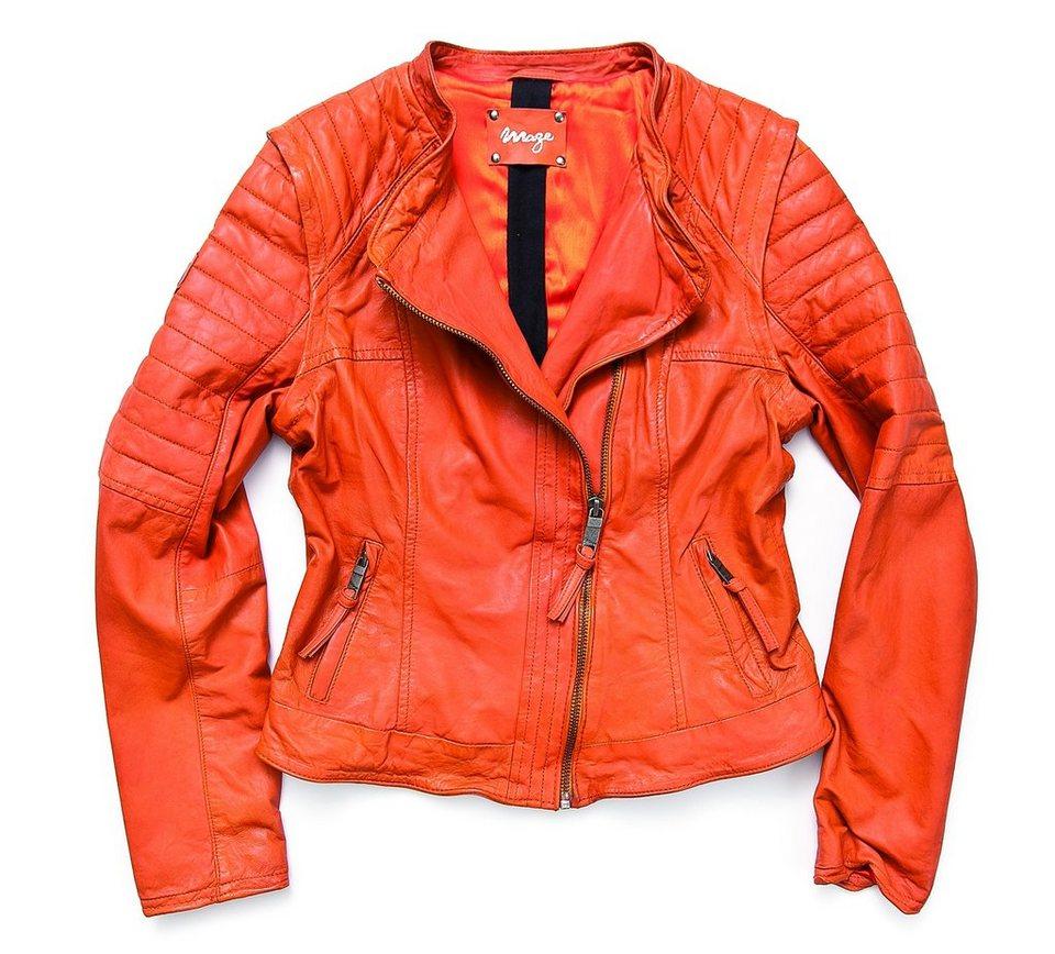 MAZE Lederjacke, Damen »Lumi« in orange