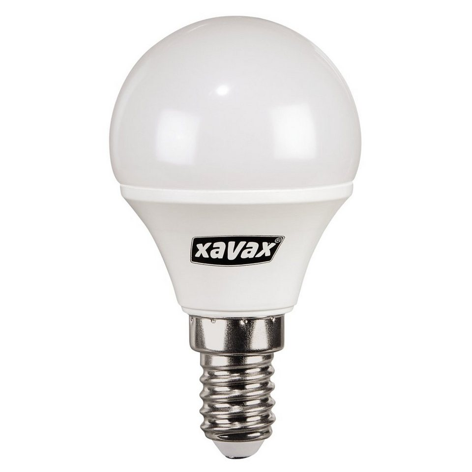 Xavax LED-Lampe, 4W, Tropfenform, E14, Warmweiß in Weiss