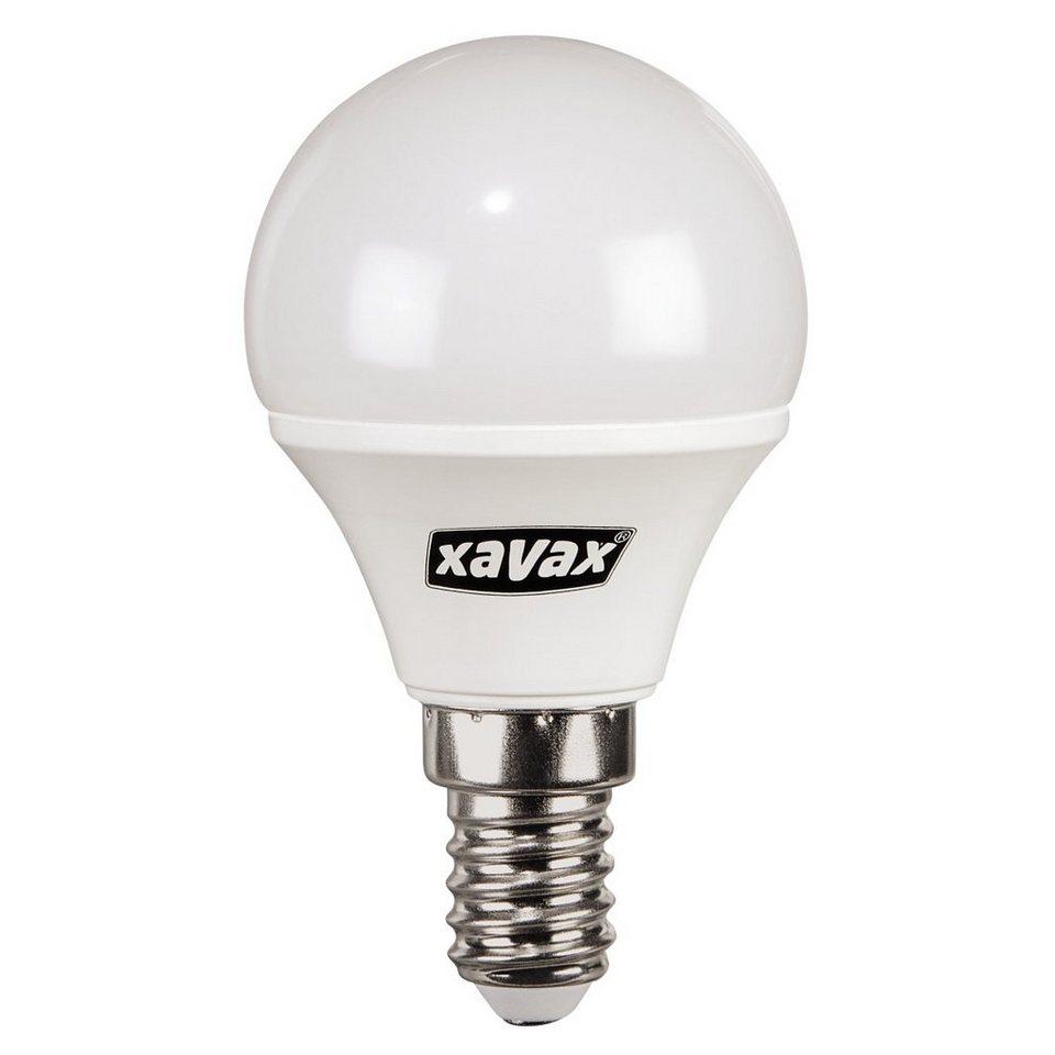 Xavax LED-Lampe, 4,5W, Tropfenform, E14, Warmweiß in Weiss