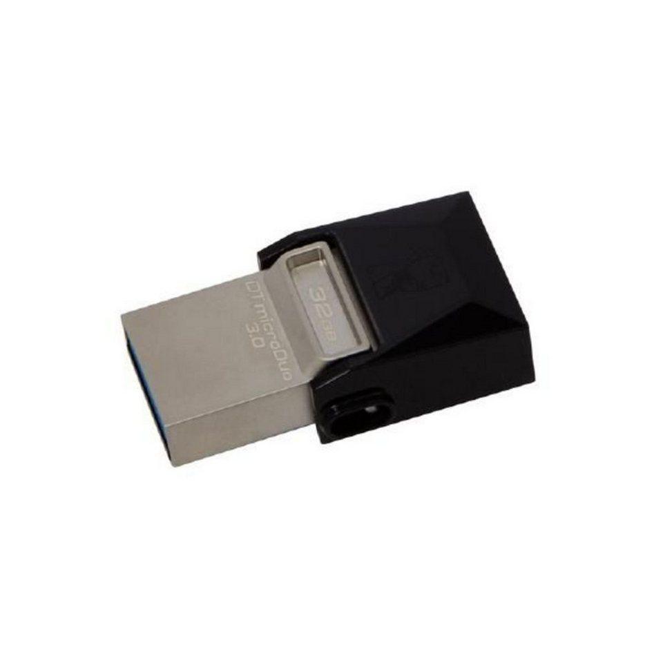 Kingston USB-Stick »32GB Data Traveler MicroDuo USB 3.0 micro USB OTG« in Schwarz