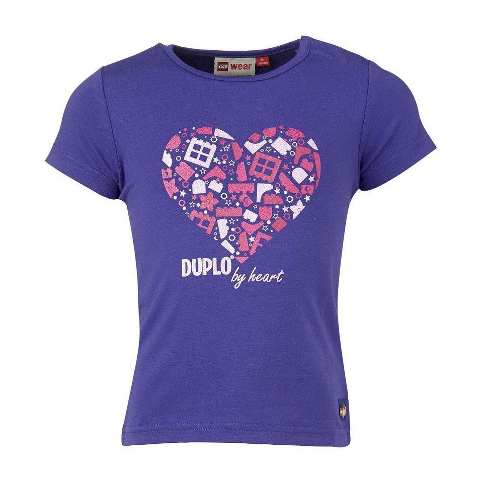 """LEGO Wear Duplo T-Shirt Tina """"Duplo by heart"""" Shirt in lila"""