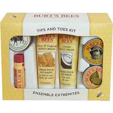 Burt's Bees, »Tips & Toes Kit«, Beauty- und Pflegeset für Hände & Füße, (6-tlg.)