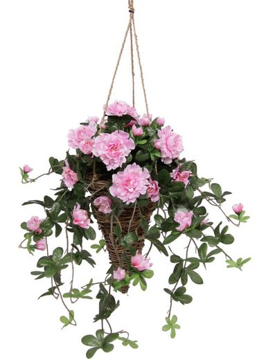 Kunstpflanze »Azalee in Hängeampel« Azaleen, I.GE.A., Höhe 53 cm