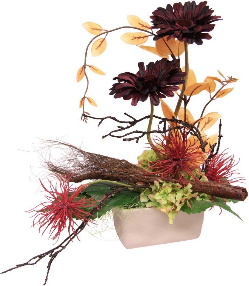 Home affaire Kunstblume »Gerbera/Protea« in rot