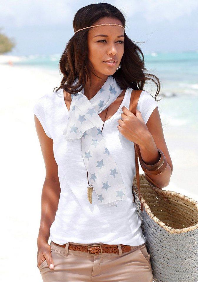 Beachtime Set: Shirt und Schal in weiß