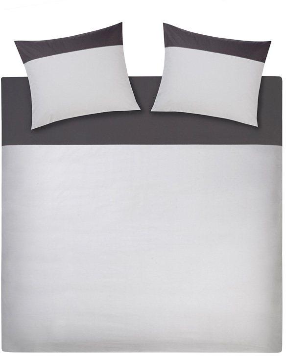 Bettwäsche, Damai, »Repeat«, edles Uni-Design in weiß