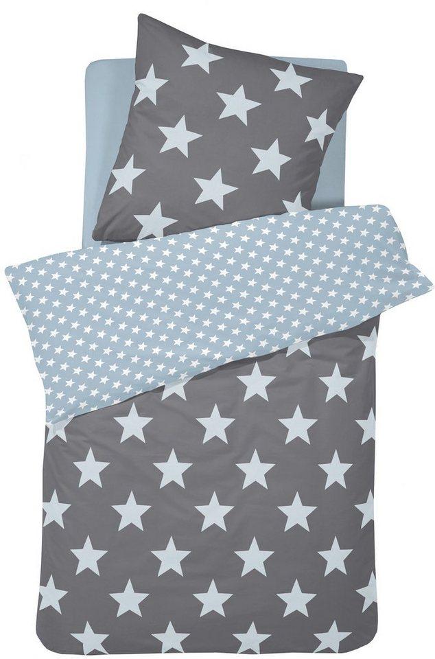 Bettwäsche, Damai, »Orion «, mit Sternen in grau-blau