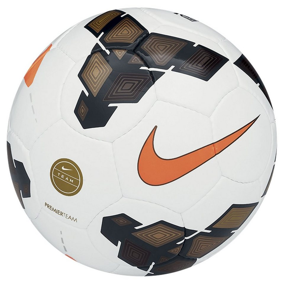 NIKE Premier Team FIFA Fußball in weiß / gold / orange