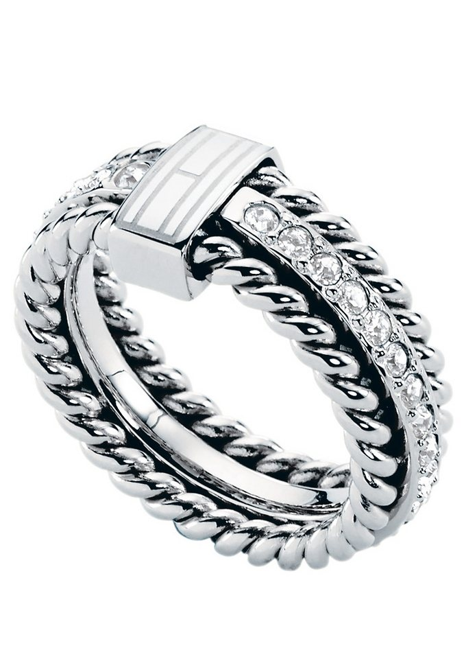 Ring, »Classic Signature, 2700582«, Tommy Hilfiger Jewelry in silberfarben