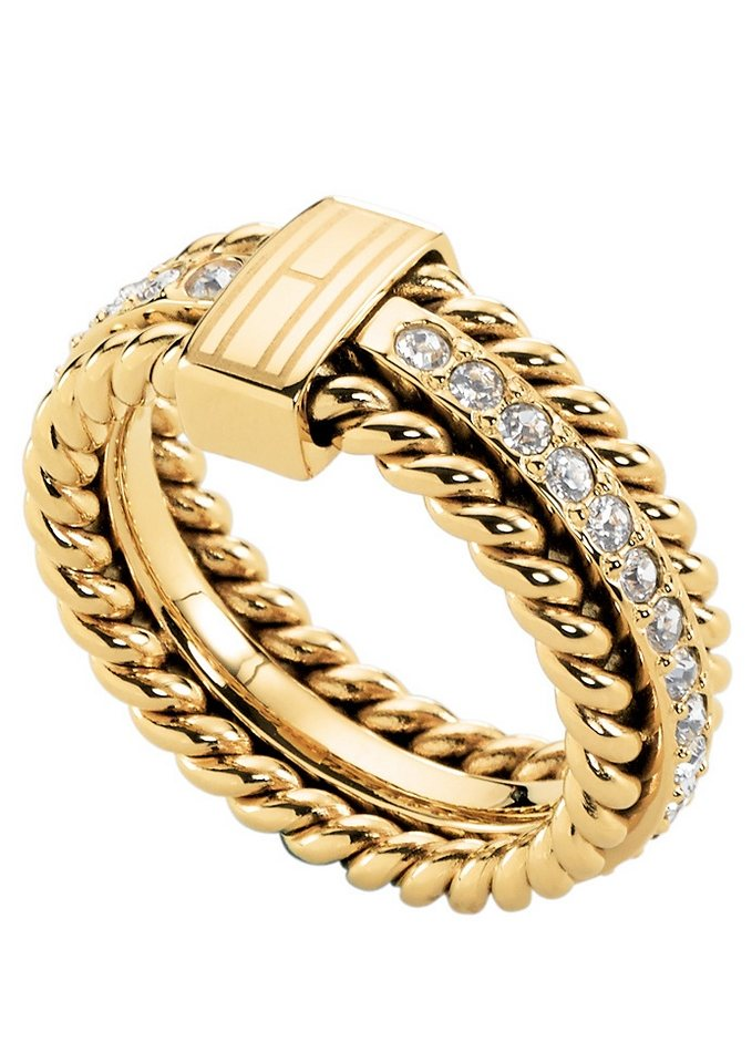 Ring, »Classic Signature, 2700602«, Tommy Hilfiger Jewelry in goldfarben