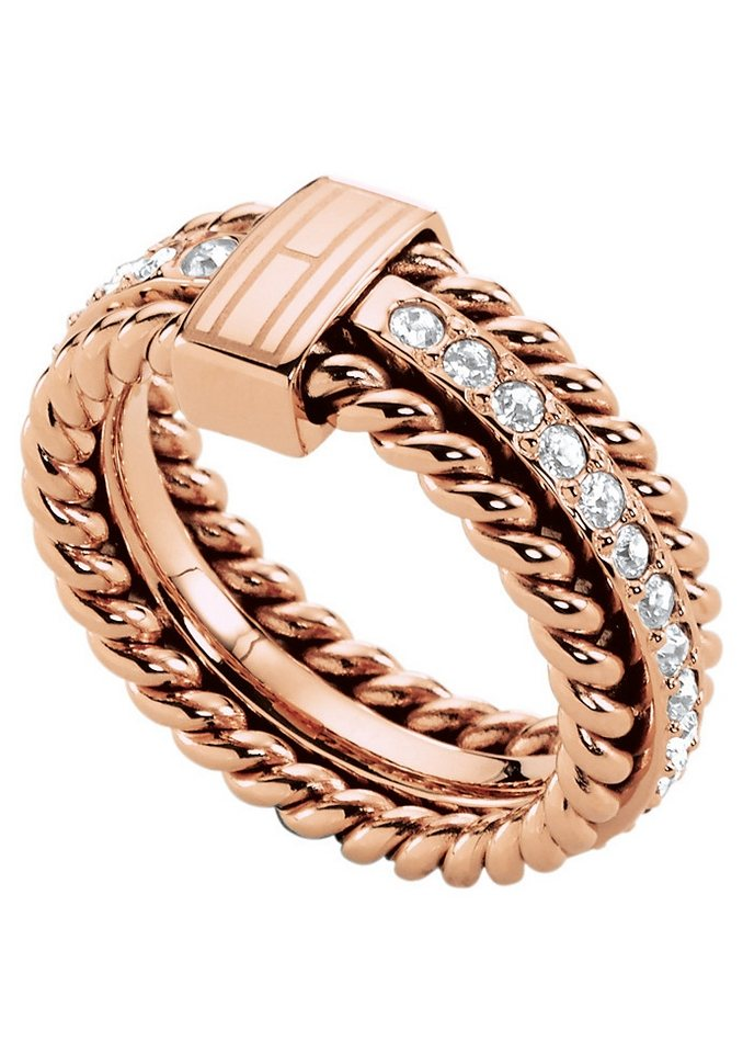 Ring, »Classic Signature, 2700609«, Tommy Hilfiger Jewelry in roségoldfarben