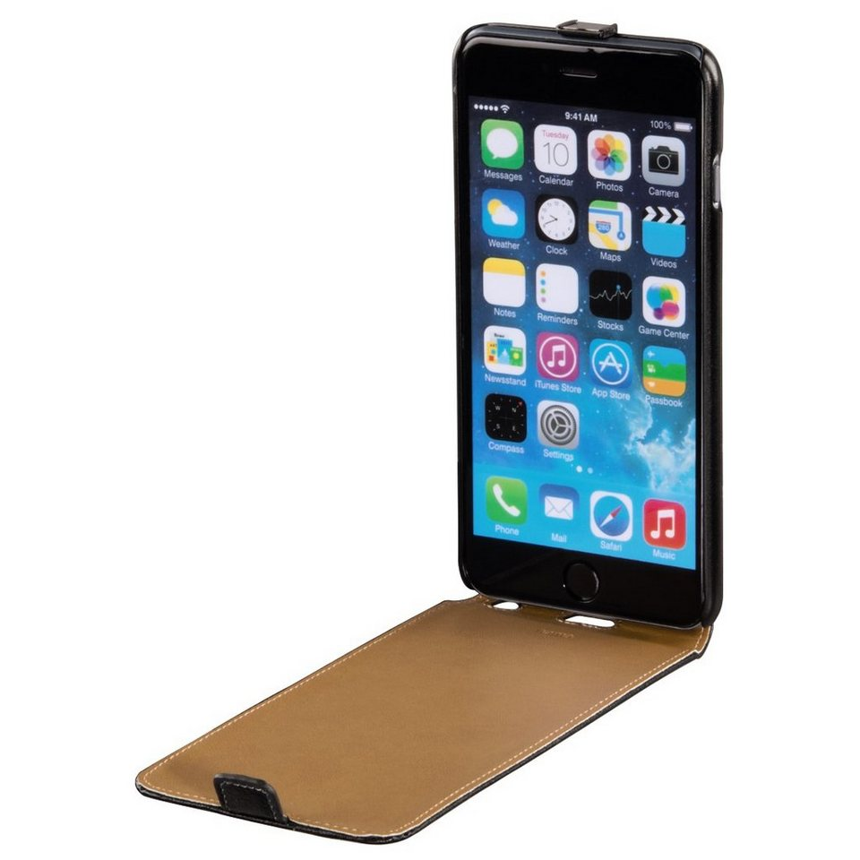 Hama Flap-Tasche Smart Case für Apple iPhone 6 Plus, Schwarz in Schwarz